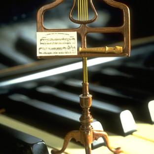 Music stand, walnut, brass, 1978
