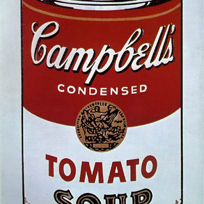 Original painting of Campbell's Tomato Soup by Andy WarholSoup