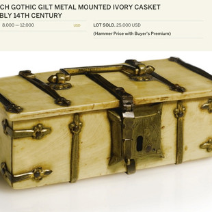 14th c. Bone Casket, inspiration from Sotheby's auction