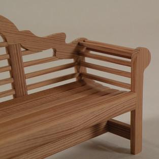 Chippendale Garden Bench, detail