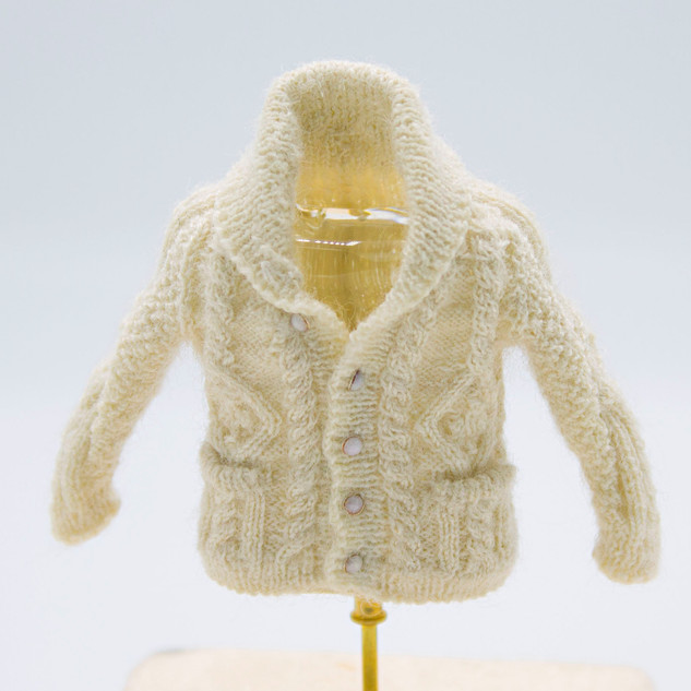 Aran Fisherman's Cardigan, 2018, front view