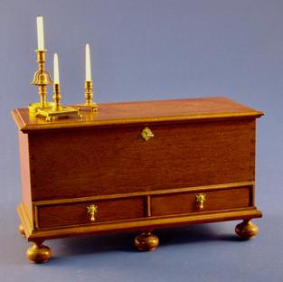 18th. c. Philadelphia baroque blanket chest, 2000