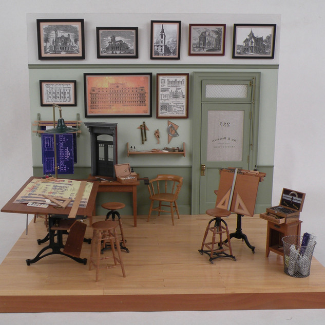 Architects Office c. 1900, assorted materials, 1997