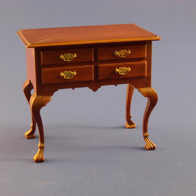 18th c Philadelphia dressing table, weathered cherry, 2000