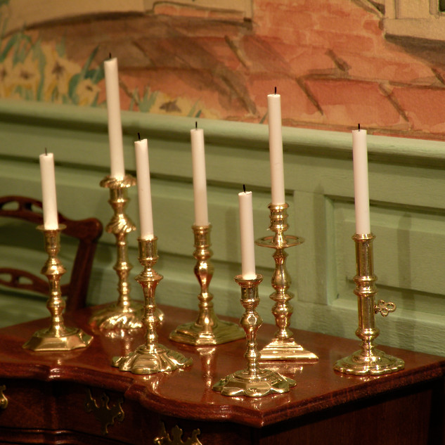 17-18th century candlesticks, in Twin Manors, brass 2010