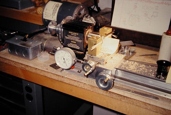 sw31  French spinning wheel, machining f