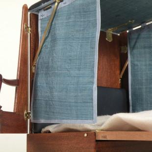 George II Metamorphic Bed, detail canopy hardware
