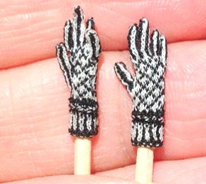 Black and White gloves