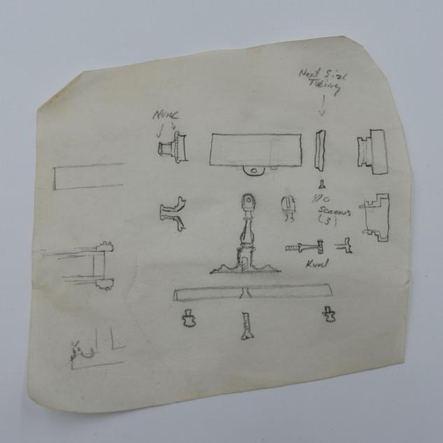 Kalidescope, artists drawing, 1985