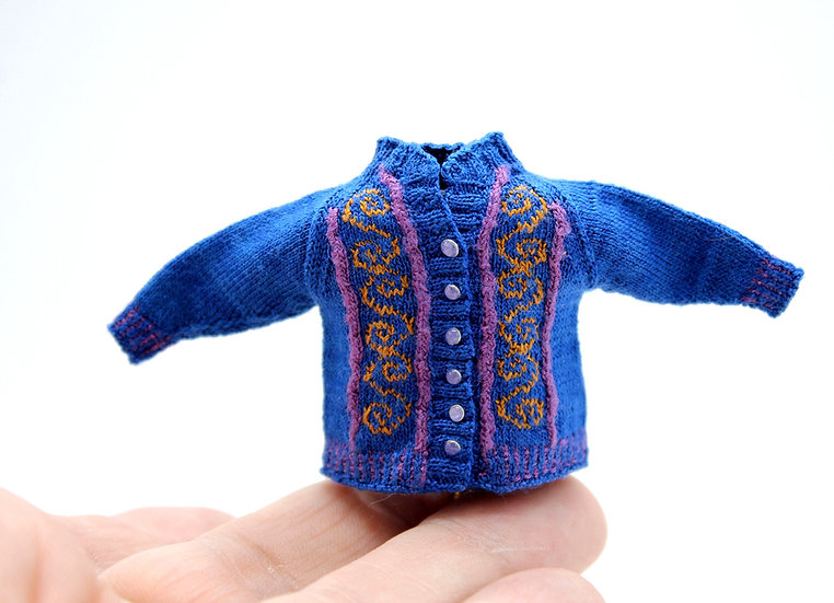 Celtic Blue and Gold Cardigan