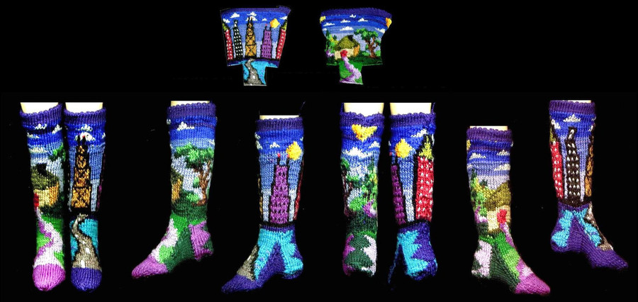 City-Country Sock