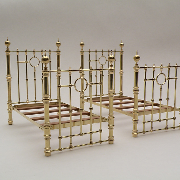 Pair of Child's Beds, brass, 2013