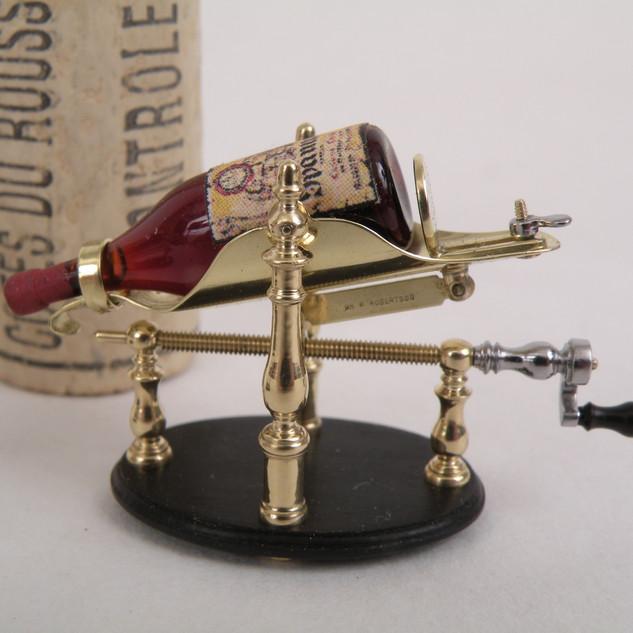 Wine Decanter, brass, steel blackwood, 2013