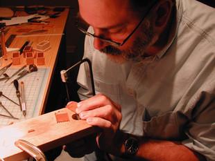 Wm. R. Robertson hand cutting dovetails