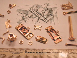 """""""Emmert"""" Patternmakers Vise, casting patterns made from brass"""