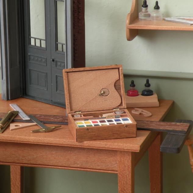 Architect's Office, detail, water color paint set
