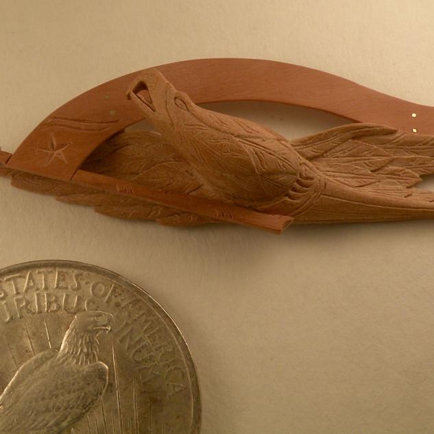 Carved eagle, original John Bellamy, (1836-1914), 2014