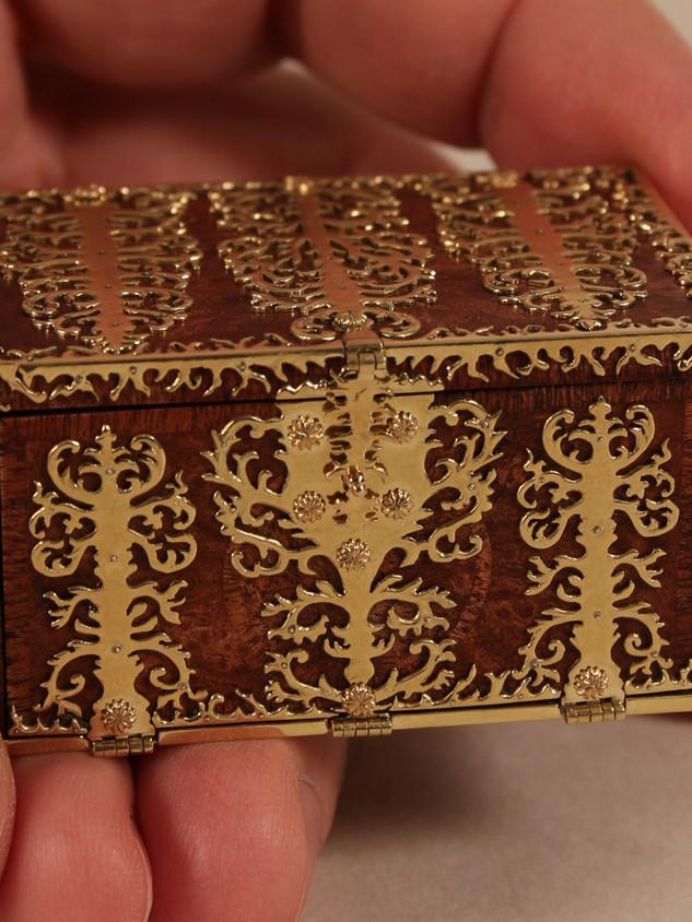 17th c. Dutch Strong Box, pearwood, rose