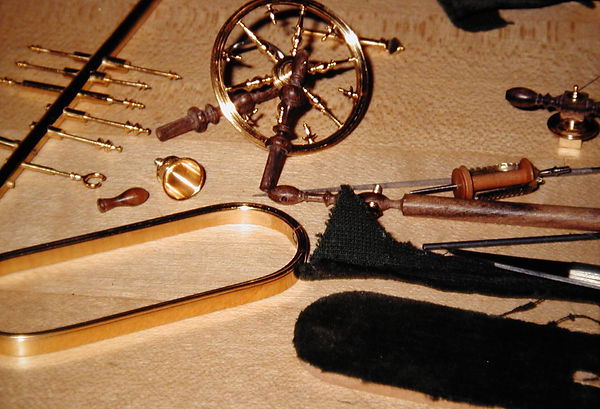 sw63  French spinning wheel, assembly be