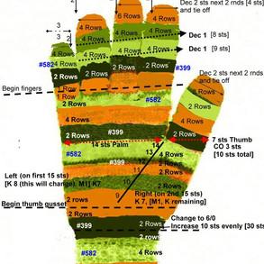 Coraline glove pattern