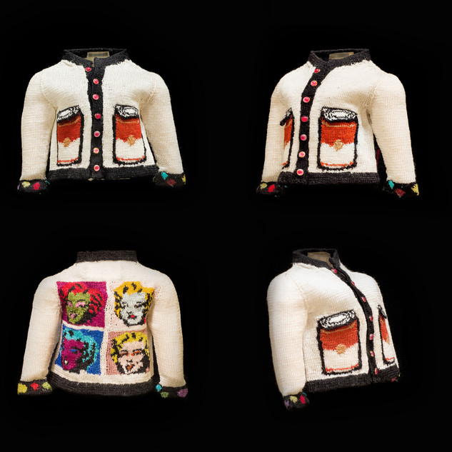 Pop Art Cardigan (Warhol I)