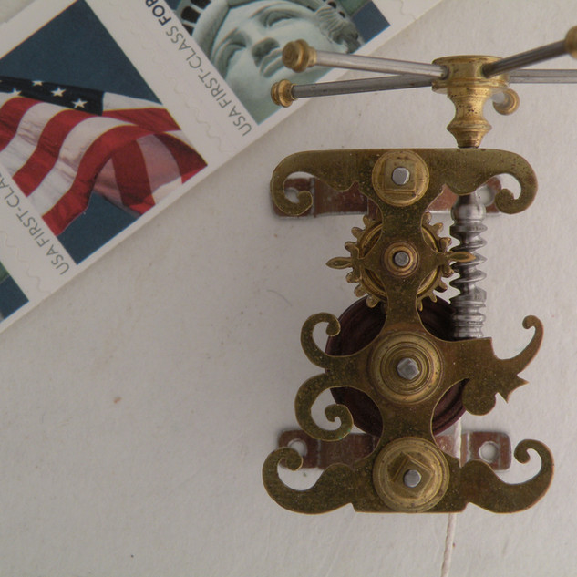 Clock Jack, brass and steel, 1999