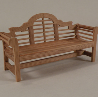 Chippendale Garden Bench, old pine, 2016