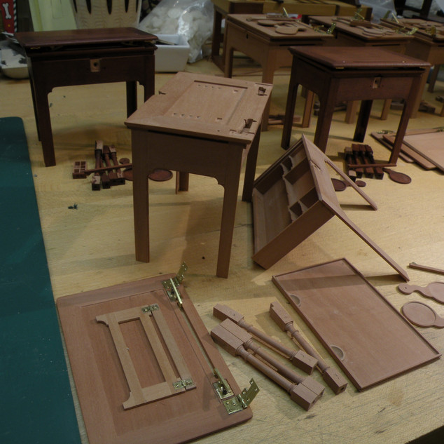 English Architect's Table, under construction at the bench