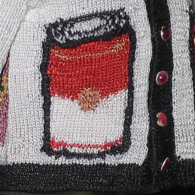 Pop Art Cardigan (Warhol I), Pocket detail