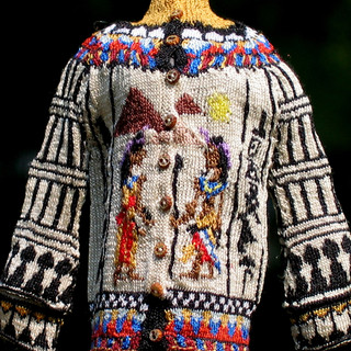 Ancient Egyptian Cardigan, Front view