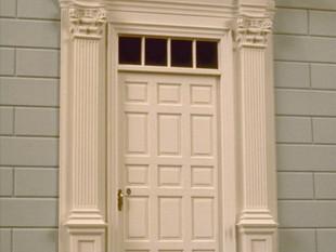 Twin Manors, front door
