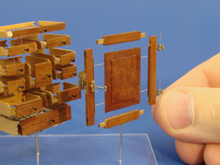 18th c. Chester County Spice Cabinet, exploded veiw showing drawers, secret compartments and working lock