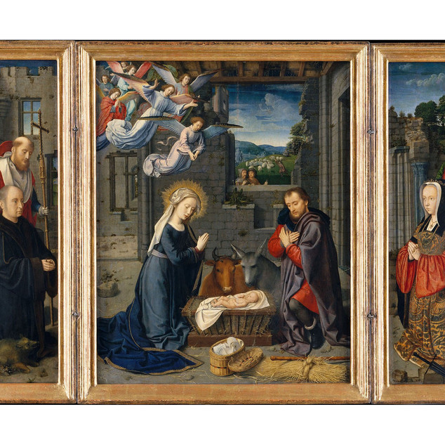 The Nativity with Donors and Saints Jero