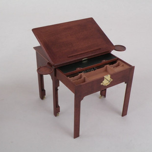 English Architect's Table, top rasied, notice: the book rest is extended