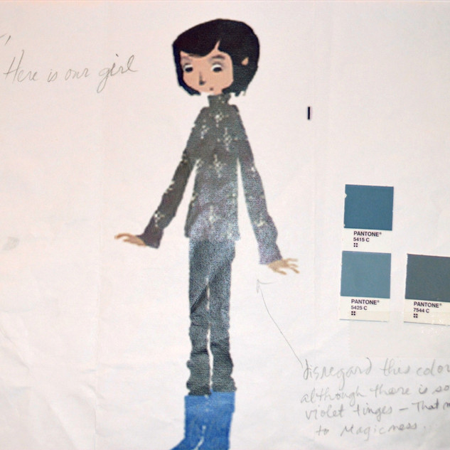 Coraline Concept image from Laika with color palattes