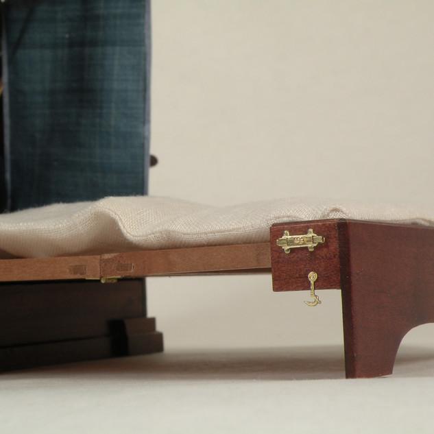 George II Metamorphic Bed, detail of frame mortices