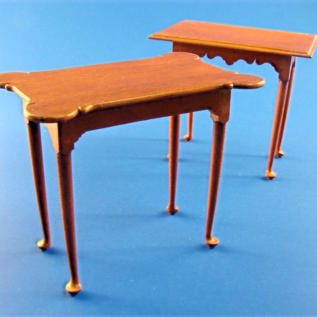 18th c. Rhode Island porringer top tea tables, cherry, 2000