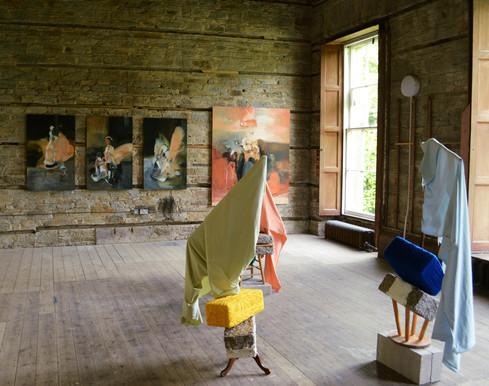 'Island' Exhibition work by Lillian Thomson and Bronwen Anwyl