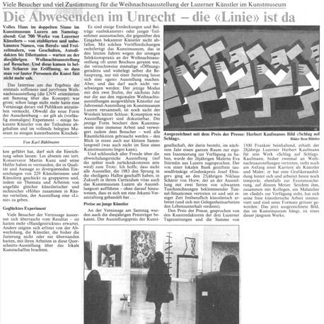 Karl Bühlmann - 5. Dezember 1983