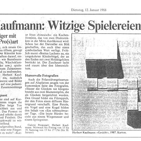 Sara Wechsler - 12. Januar 1988