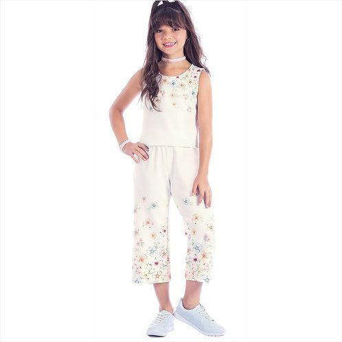 Conjunto bluso e calça em charlotte sublimado (ref. 10616)