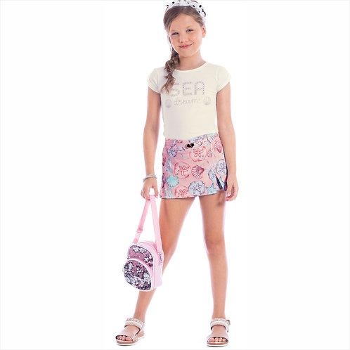 Conjunto blusa cotton e short - saia soho sublimado (ref. 10618)