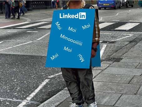Les hommes et les femmes sandwich sur LinkedIn