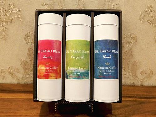 「高尾山ブレンド」100g×3種 缶入りコーヒー豆ギフトセット