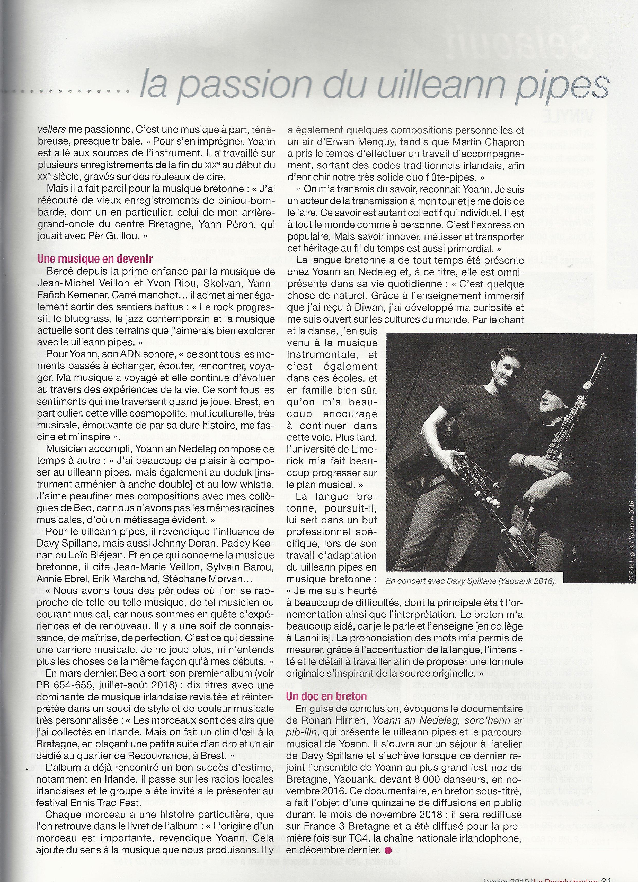 Article Pobl Vreizh (Janvier 2019)