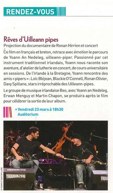 Sorite d'album BEO et projection du documentaire - Médiathèque des Capucins (Brest-29)