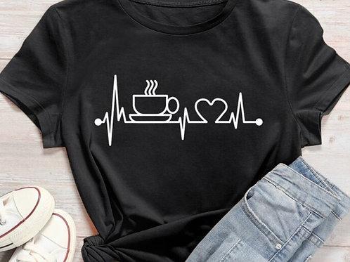 coffee heartbeat tee