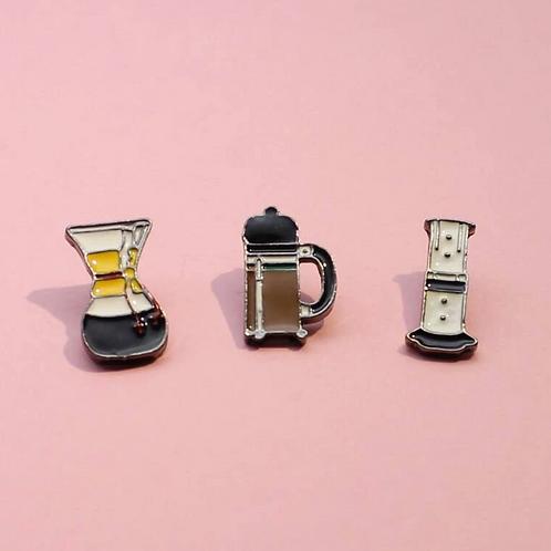 Coffee Maker Pins (set 3)