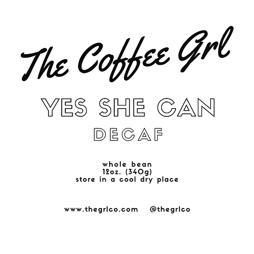 Yes She Can - Decaf Ground Coffee