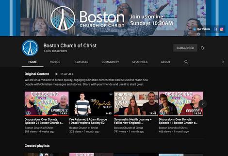 Boston Church YouTube Channel